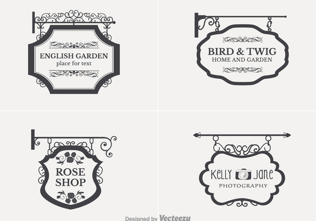 Free Retro Hanging Nameplate Vector - Free vector #357975