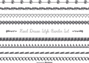 Cute Messy Hand Drawn Border Set - Free vector #357985