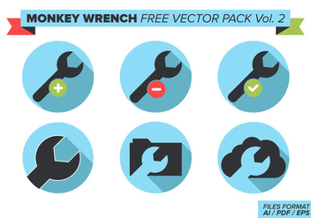 Monkey Wrench Free Vector Pack Vol. 2 - Kostenloses vector #358015