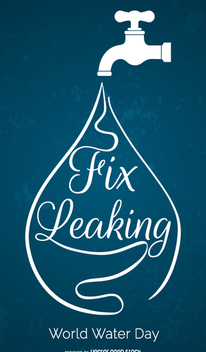 World Water Day - Fix leaking - vector #358495 gratis