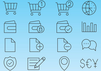 Line Icons For Shop - Kostenloses vector #358555