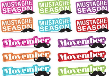 Movember Title Vectors - Free vector #358715