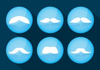 Moustache Vectors - vector #358915 gratis