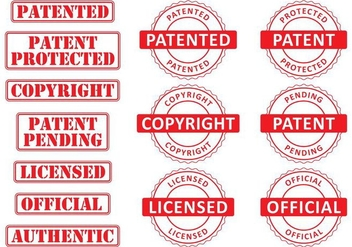 Patent Stamps - Free vector #358965