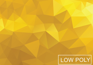 Yellow Poly Vector Background - Free vector #359015