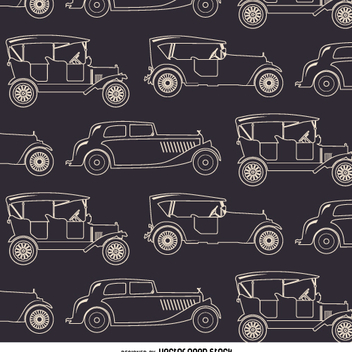 Vintage car seamless pattern - vector gratuit #359065