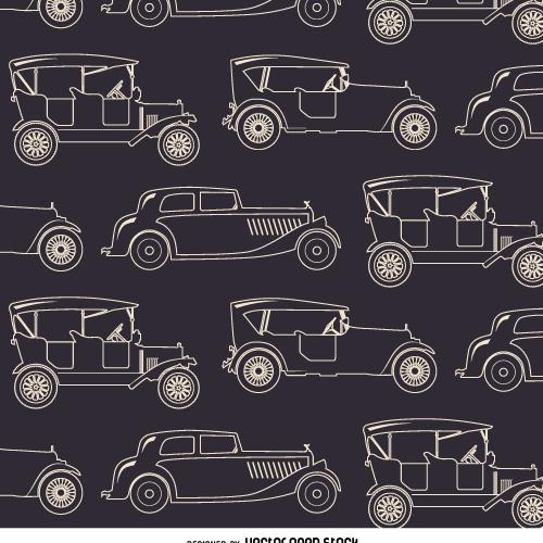 Vintage car seamless pattern - Free vector #359065