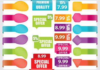 Pricing Stickers - Free vector #359395