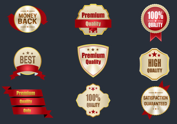 Best Quality Labels - vector gratuit #359405