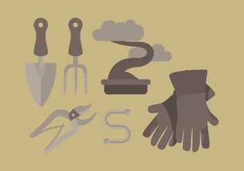 Vector Gardening Tools - Kostenloses vector #359625