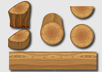 Wood Logs Vectors - vector gratuit #359655
