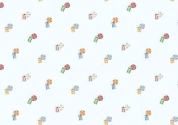 Sunbathing Icons Pattern - vector gratuit #359735