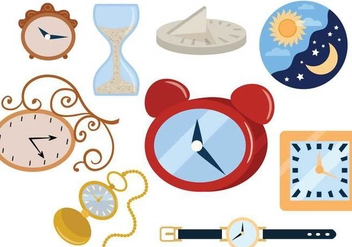 Free Clocks Vectors - Free vector #359925