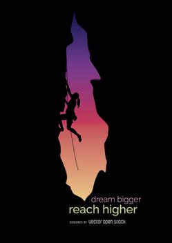 Climbing motivation metaphor - vector gratuit #360035