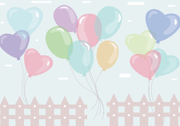 Balloons Colorful Vector - vector gratuit #360185