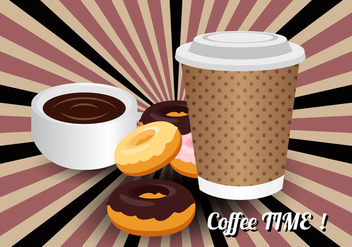 Free Coffee Time Vector - Free vector #360235
