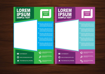 Vector Brochure Flyer Design Vector - vector #360285 gratis