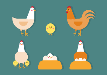Vector Chicken - vector gratuit #360435
