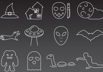 Monsters And Mystery Icons - Kostenloses vector #360615