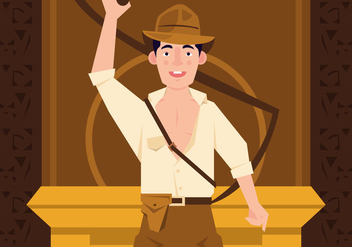 Vector Indiana Jones Action - бесплатный vector #360665