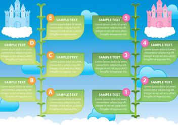 Beanstalk Infographic - vector #360685 gratis