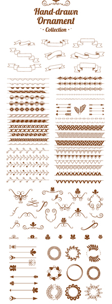 Hand drawn ornament collection - Free vector #360725