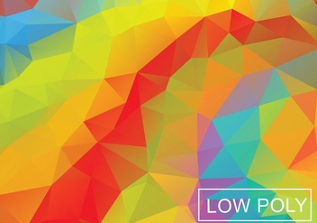 Geometric Orange Polygonal Vector Background - Free vector #360975