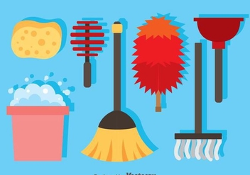 Home Cleaning Icons - Free vector #361055