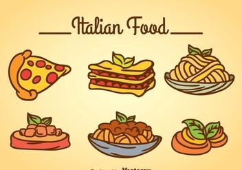 Italian food Vector - Free vector #361105