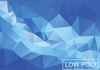 Blue Light Polygonal Mosaic Background - Free vector #361145