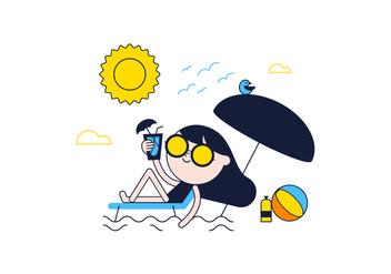 Free Sunbathe Vector - vector #361505 gratis