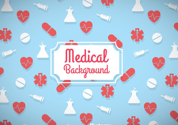 Medical Blue Background - Free vector #361525