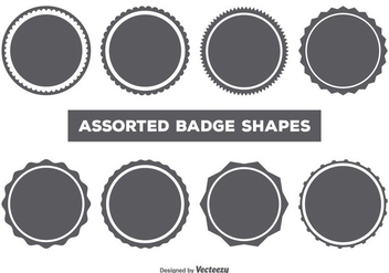 Vector Badge Shape Set - Kostenloses vector #361565