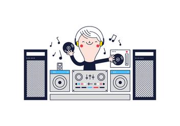 Free DJ Vector - Kostenloses vector #361575
