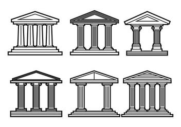 Roman Pillar Vector - Free vector #361645