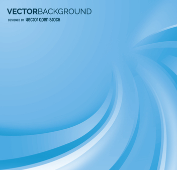 Blue abstract background with waves - Free vector #361715