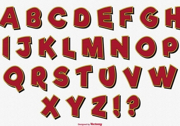 Cute Decorative Alphabet Set - Kostenloses vector #361775