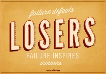 Typographic Inspirational Retro Poster - Free vector #361795