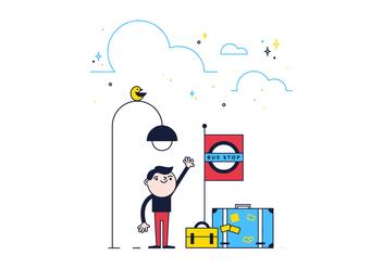 Free Bus Stop Vector - vector gratuit #361835