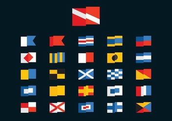 Free Dive and Marine Vector Flags - Kostenloses vector #362065