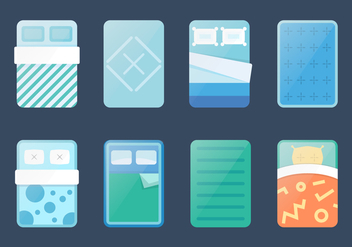 Free Mattress Vector Set - vector gratuit #362185