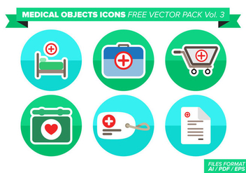 Medical Objets Icons Free Vector Pack Vol. 3 - Free vector #362265