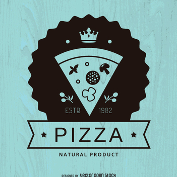 Hipster pizza logo - Free vector #362345