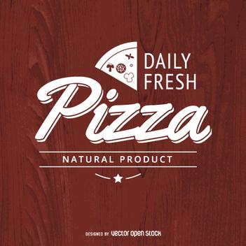 Vintage typographic pizza logo - vector gratuit #362355