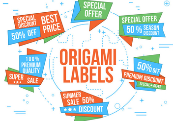 Free Vector Origami Labels - бесплатный vector #362505