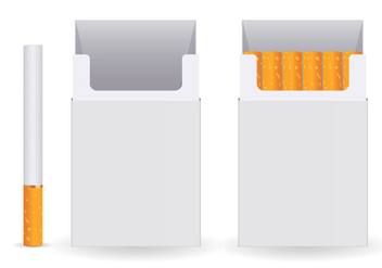 Free Pack Of Cigarettes Vector - vector gratuit #362915