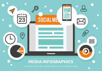 Free Media Infographics Vector - Free vector #362935