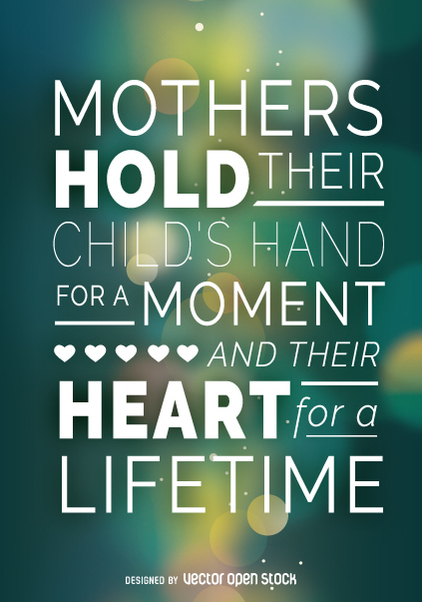 Mother's Day poster with quote - vector gratuit(e) #362995