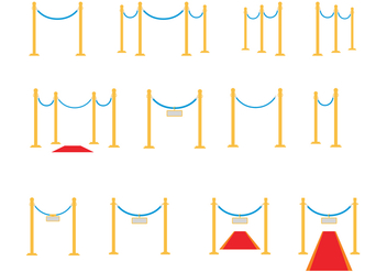Free Velvet Ropes Vector - Free vector #363045