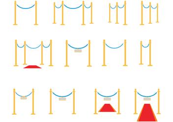 Free Velvet Ropes Vector - Kostenloses vector #363045